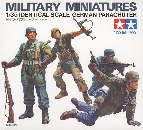 Tamiya Miniatures 1  35 Tysk fallskärmsjägare Job Lot (10 -kit)