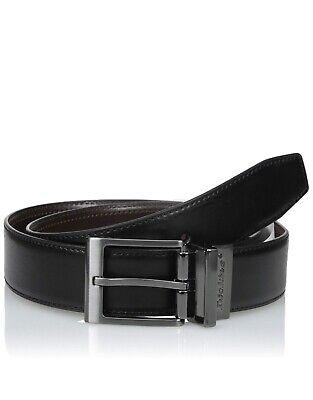 "Black//Brown Men/'s Reversible Leather belt Sizes 30/"" 32/"""