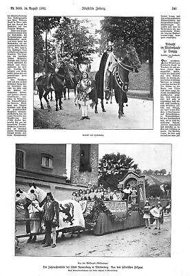 Baden-württemberg EntrüCkung Ravensburg*der Historische Festzug Zur Jahrtausendfeier*4 Abbildungen*1902* Modernes Design Antiquitäten & Kunst