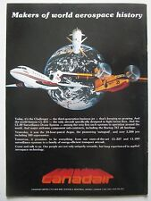 8/1981 PUB CANADAIR CHALLENGER CL-215 CL-89 DRONE SYSTEM ORIGINAL AD