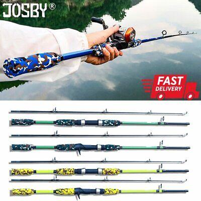 Carbon Fiber Lure Fishing Rod Hand Pole Spinning Casting Ultralight 1.5M 1.8M US