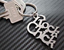 ROCK CHICK Sexy Rocker Rock Music Keyring Keychain Key Stainless Steel Gift