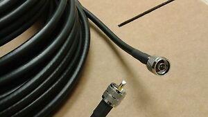 RG-8//U   N Male to N Male Cb Ham Radio 50 ohm  COAX CABLE Antenna  50 ft