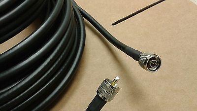 RG-8//U  PL-259  UHF to  N Male  Cb Ham Radio 50 ohm COAX CABLE  75 FT
