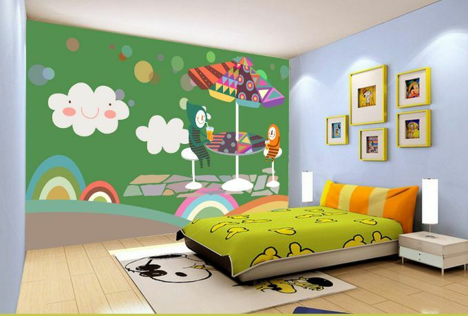 3D Grün Clouds Rainbow Paper Wall Print Decal Wall Wall Murals AJ WALLPAPER GB