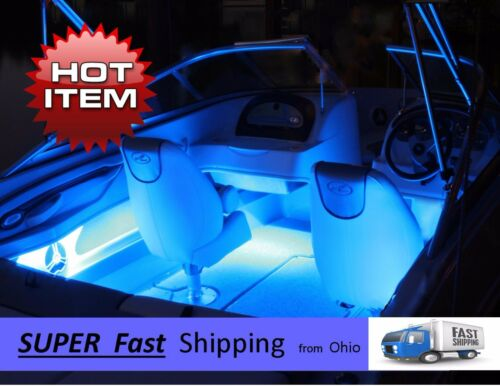 /_/_/_ GREEN led boat light KIT 12vDC x2 pieces 8ft. Pontoon or Fishing Boat