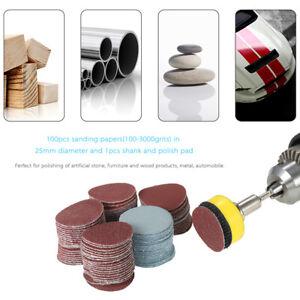 100PCS-2-5cm-Disque-de-Poncage-0-3cm-Tige-Broyeur-Sablage-Lustrant-Patin-Supe