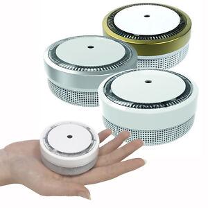 """5x Nemaxx Mini-Designer Rauchmelder /""""Elegance/"""" mit 5 J Silber Lithium Batterie"""