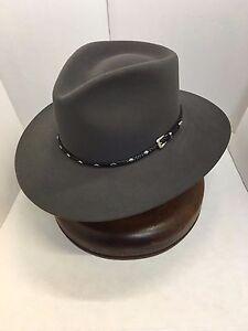8bf664e5 Stetson Cowboy Hat 5X Diamond Jim Caribou -No Tax Sell + Hat Brush ...