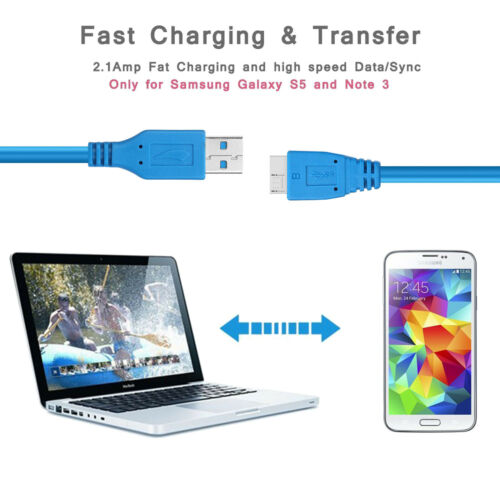 USB 3.0 Cable USB3.0 HDD Data Cable A Male to Micro-B Extension Cord USB 10ft