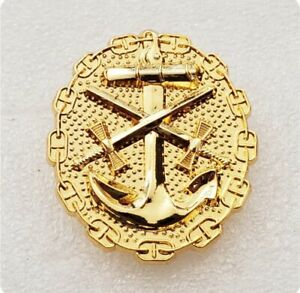 WWII-German-Naval-Wound-Badge-Order-Pin-medal-Gold-Plated-Replica