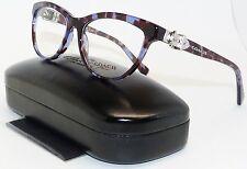 COACH HC 6087 5392 Cat-Eye Blue Tortoise Women Eyeglass Frame, Eyewear, Q3/Q
