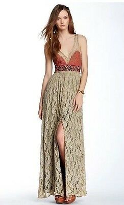 People Crushed Gold Party Maxi Dress