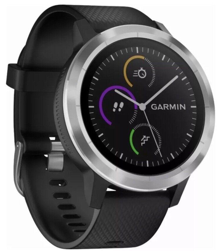 New Garmin - vívoactive 3 Smartwatch - Stainless steel - 010-01769-01