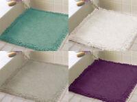 Shower Mat Bath Mat Bathroom Floor Carpet Non-slip Mats 60cm x 60cm 100% Cotton