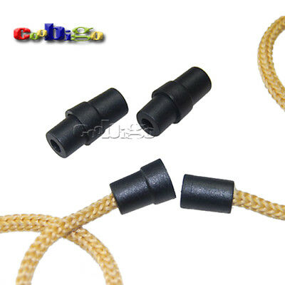 Pocmimut Cord Locks Silicone Toggles Lanyard Safety Breakaway Pop Barrel Connectors for Paracord Ribbon Lanyard Strap Necklace Connect Masked Cord Adjuster Non Slip Stopper Black-100