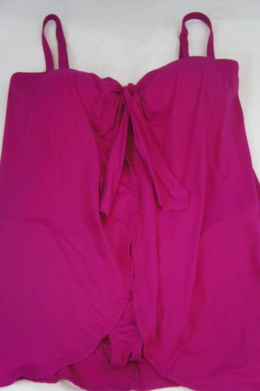 Ralph Lauren Swimwear Woman One Piece Sz 22W Pink Flyaway Swimsuit LR53B11W