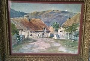 Emile APPAY aquarelle Vieilles Maisons à Clécy NORMANDIE Calvados Vers 1910-1920