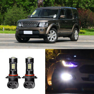 2x-Canbus-H11-3030-21SMD-LED-DRL-Daytime-Running-Fog-Light-Bulbs-For-Discovery-4