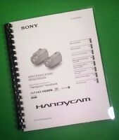 Color Printed Sony Handycam Cx550 Cx550v Manual User Guide 127 Pages