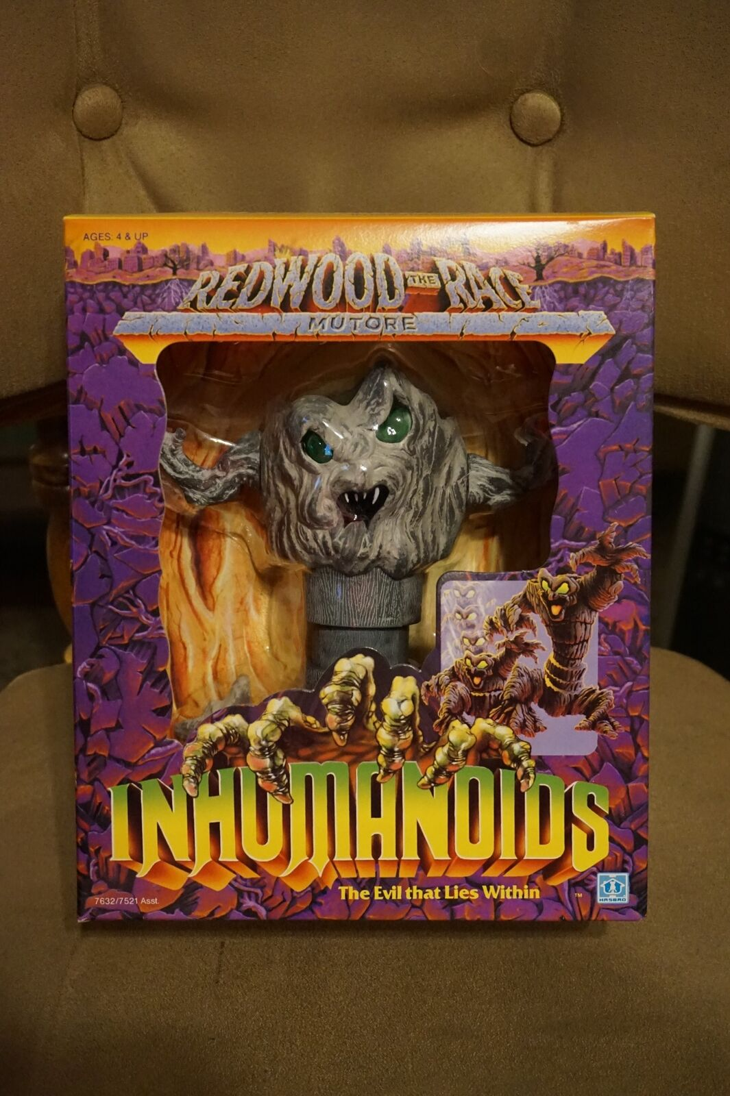VINTAGE 1986 Hasbro INHUMANOIDS grau MUTORE Figure NEW SEALED MIB BEAUTIFUL BOX