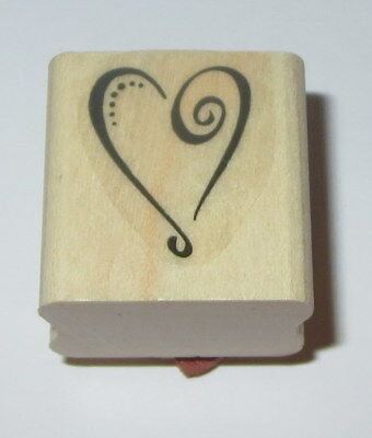 LOVE WITH ALL YOUR HEART Religious Card Words NEW Wood Mount CRAFT RUBBER STAMP