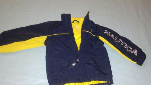 Vtg 90's Nautica Spellout Jacket Babies Toddlers 2T 1218 Months Yellow Blue