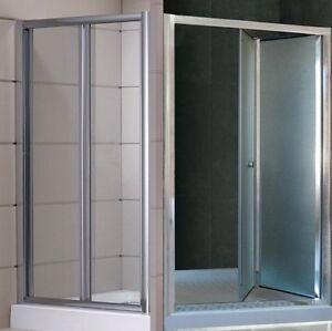 Porta-doccia-a-soffietto-libro-per-Box-nicchia-70-80-90-100-trasparente-opaco-sd