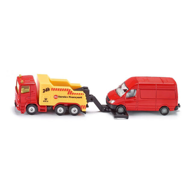 Siku 1667 Scania Tow Truck with Sprinter in Red (Blister Pack) New!
