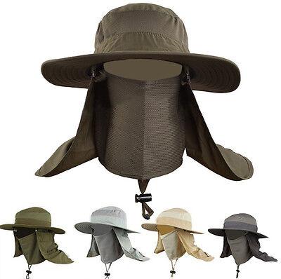 Outdoor Unisex Brim Sun Block Quick Drying Fishing Sun Cap Climbing Bucket Hat
