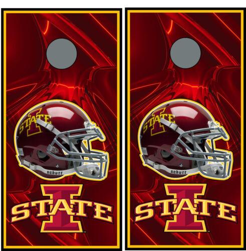 Iowa State Cyclones 0146 custom cornhole board vinyl wraps stickers posters gift
