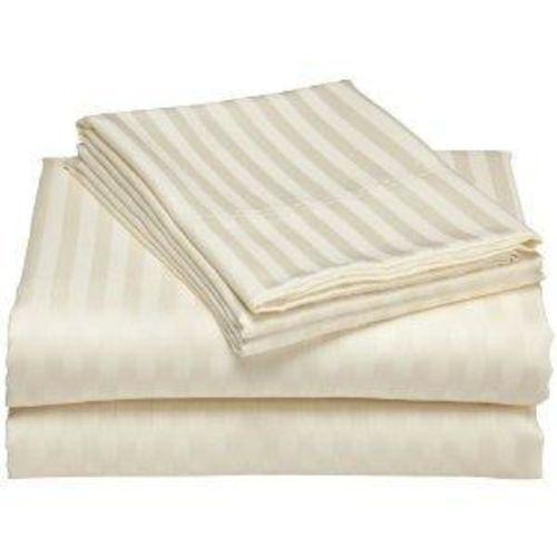 2500 Stripe Damask Bamboo Sheet Set- CREAM