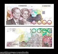 BELGIUM 10000 FRANCS P146 1992-1997 KING QUEEN AUNC PAOLA GREEN EURO RARE NOTE