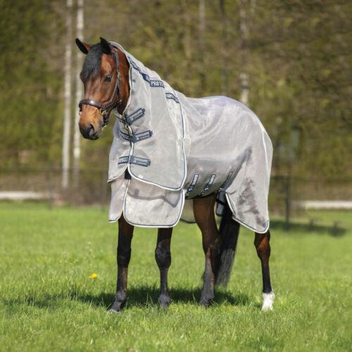 Fliegendecke Horseware Rambo Protector Oatmeal//Navy