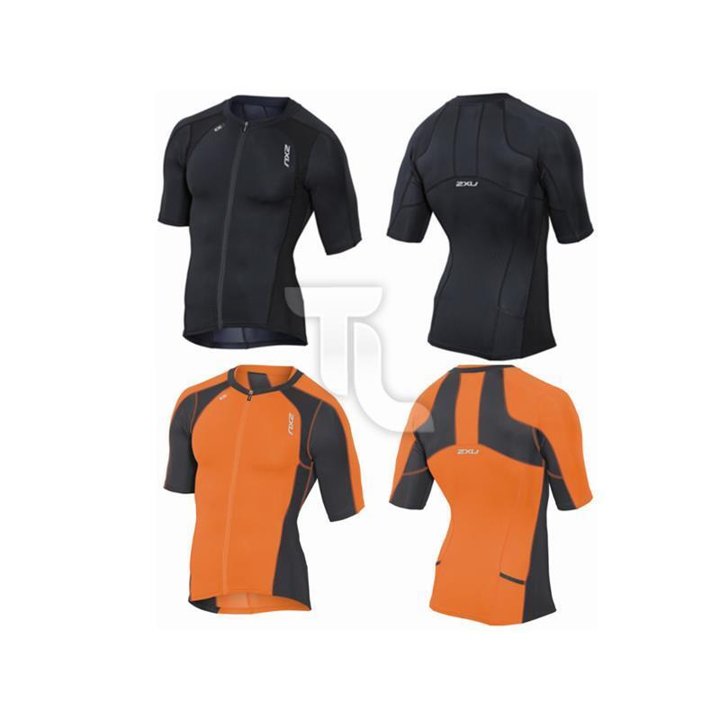 2xu Compressiom Sleeved Tri Top Herren MT3615 NEU Triathon Shirt Ärmel