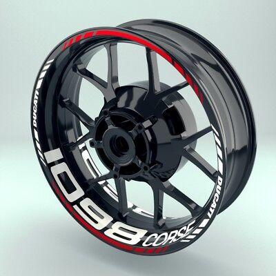 Behendig Felgenaufkleber Motorrad Felgenrandaufkleber Wheelsticker Ducati_1098corse Set Minder Duur