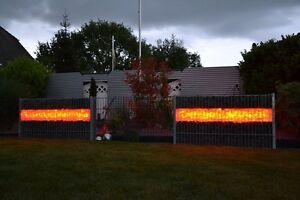 Das Bild Wird Geladen Led Gabionen Beleuchtung 360 1m 2er Set Steinmauer