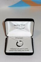 Be Inspired 925 Sterling Silver friends Pendant & Box Chain