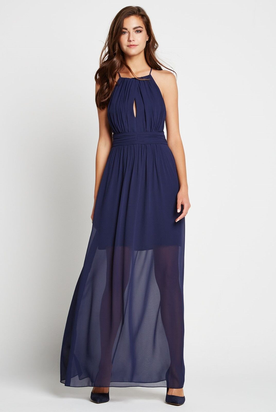 BCBGeneration Cut Out Shirrot Maxi Dress. Sz  6. New With Tag.