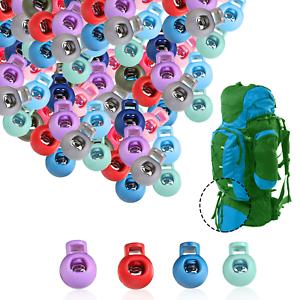Tapon-De-Plastico-Cerraduras-Toggle-Cable-Resorte-cargado-con-agujero-final-cordon-100-un