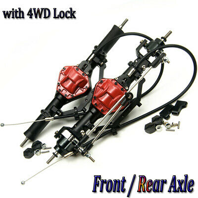 Complete Alloy Metal Rear Axle w// 4WD Lock For 1:10  RC Rock AXIAL SCX10 Crawler
