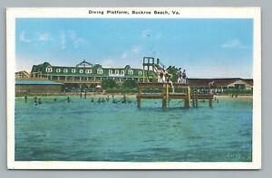 Image Is Loading Diving Platform Buckroe Beach Virginia Rare Vintage Hampton