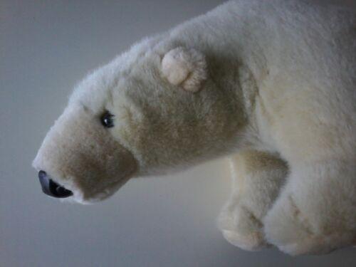 Nanu Nana Teddybär Eisbär  33x 18 cm  Stofftier Kuscheltier Plüsch creme weiss