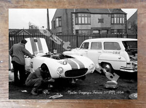 Historic-Masten-Gregory-039-s-Ferrari-375MM-1954-Motorsport-Postcard