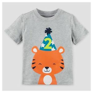Image Is Loading NEW 2nd Birthday TIGER Baby Boys Shirt 2T