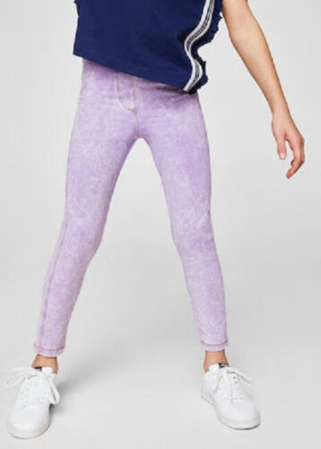 Girls purple acid wash jeggings skinny jeans in age 7 8 11 12 13 and 14 new