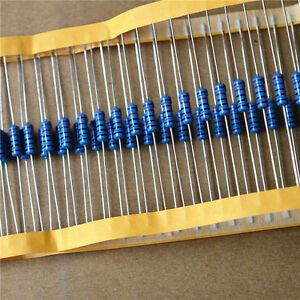 1W-Metal-Film-Resistor-1-1-Watt-1-Ohm-10R-100R-220R-1K-Ohm-4-7K-to-1M-Ohm