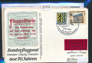 97496) Rda Coursier So-carte So-lp Leipzig-dresde 11.5.84, Mif-afficher Le Titre D'origine