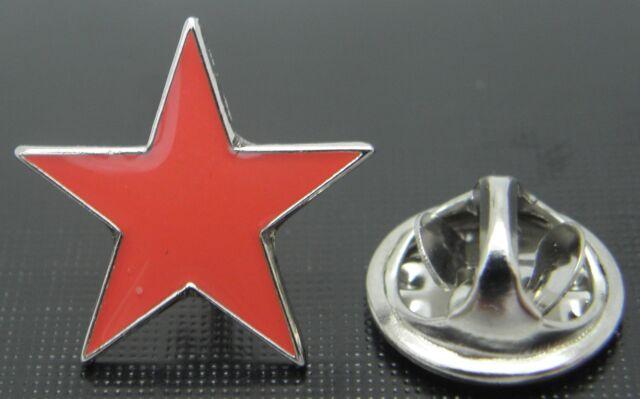 Red Star Lapel Pin Badge Five Pointed Pentagram Communism Communist