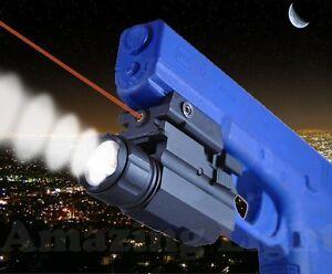 Laser Sight Tactical Flashlight Combo for Glock G17 G20 G21 G22 G31 Pistols etc